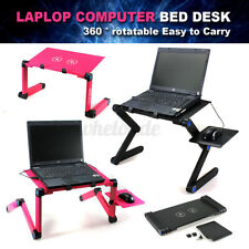 Foldable Laptop Desk Table Fans Stand Desk Office Bed Sofa Tray With Mouse Pad