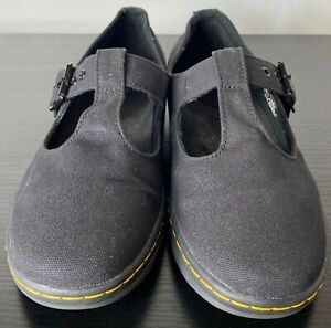 Dr. Martens Woolwich Mary Jane women's black canvas low top shoes size US 10 L