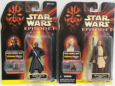 STAR WARS : QUI-GON JINN & DARTH MAUL ACTION FIGURES MADE BY HASBRO IN 1998/9