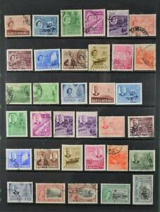 NORTH BORNEO STAMPS SELECTION ON STOCK CARD  (K1)