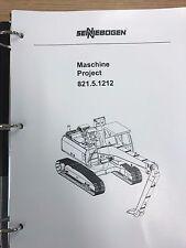Sennebogen 821 Parts Manual Binder 821.5.1212 USPS Priority Mail