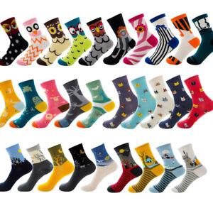 Cartoon Animal Novelty Boy/Girl Cotton Casual Dress Colorful Funny Socks