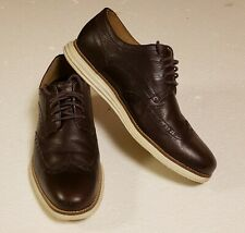 MENS COLE HAAN C26475 GRAND SHORTWING JAVA BROWN LEATHER WINGTIP SHOES 11 M