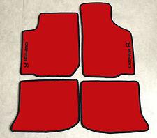 Autoteppiche Fußmatten für Seat Leon 1M Cupra R rot schwarz 1999-2005 Neu Velour