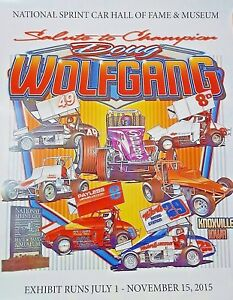 DOUG WOLFGANG SALUTE TO CHAMPION 28X22 HOF POSTER WORLD OF OUTLAWS SPRINT CAR