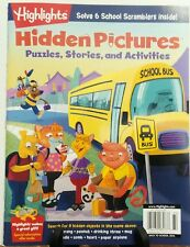 Highlights Hidden Pictures Puzzles Stories Back to School 2016 FREE SHIPPING