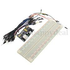 830 point Solderless MB-102 PCB Breadboard Power Supply Jumper Wires Starter Kit