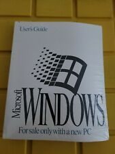 """Vintage Microsoft Ms Windows Operating System 3.5"""" Disks and User's Guide Sealed"""
