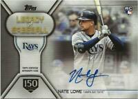 2019 Topps Update NATE LOWE Legacy of Baseball Auto 105/150 Rays RC