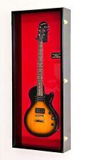 Fender Acoustic Electric Bass Guitar Display Case Cabinet Rack LED 98% UV Locks
