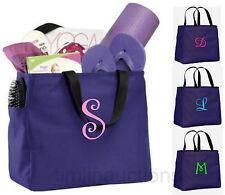 Bridesmaid Gift Bags Personalized Tote Bag Monogram Bridal Wedding Party Purple