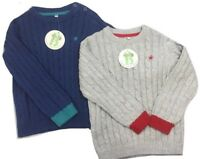 Baby Boys Jumper Sweater Cable Knit Warm Top 0-24 months sizes Blue Grey Ex BHS