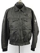Harley Davidson Legendary Nylon Leather Jacket Mens M Medium Limited Bomber