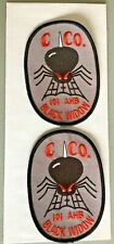 2 military War Patch, Us 101st Black Widow Ahb c co