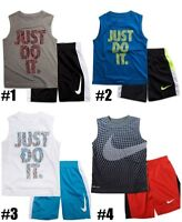 New Nike Little Boys Dri-FIT Tank Top & Shorts Set Choose Size & Color MSRP $36