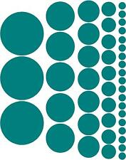 POLKA DOTS circles choose your color 44 multiple sizes girls room wall decals