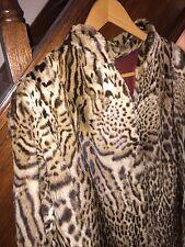 Authentique et rare manteau de fourrure en Panthère VINTAGE années 60 taille 38