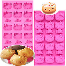 15 Cavities HELLO KITTY SILICONE Mold Chocolate ICE Jelly Mini Cake Mould set