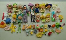 VINTAGE LARGE LOT OF STRAWBERRY SHORTCAKE DOLLS, Animals, and Accessories