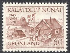 Greenland 1970 Liberation/WWII/War/Buildings/People/National Flag 1v (n43669)