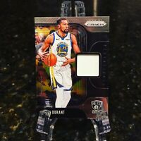 KEVIN DURANT GAME-WORN JERSEY PATCH 2019-20 PANINI PRIZM SENSATIONAL SP NETS