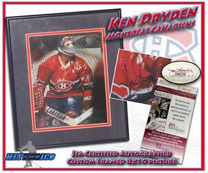 KEN DRYDEN Signed MONTREAL CANADIENS 8X10 CUSTOM FRAMED PHOTO JSA COA