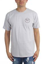 Brixton WHEELER II Grey Maroon Black Screenprint S/S Standard Fit Men's T-Shirt