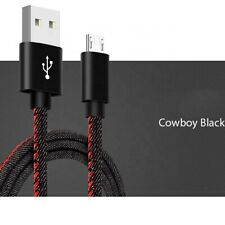 Micro USB Quick Charge Sync And Charging Data CableBraided Denim  5ft 1.5m