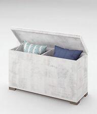 Baul o arcon con compartimentos de melamina blanco de 90x49 cm