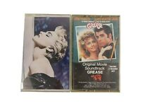 Lot 2 Vintage Music Tape Cassettes MADONNA TRUE BLUE & GREASE Soundtrack