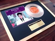 """ELVIS PRESLEY WONDER OF YOU 24CT GOLD PLATED DISC 7"""" SINGLE RECORD DISC AWARD"""
