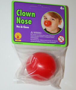 Red Plastic Clown Nose funny character parade novelty circus costume party prop