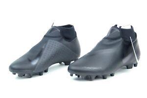Nike JR Phantom VSN Academy DF FG/MG Soccer Cleats Ghosts TripleBlack AO3287-001