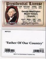 George Washington President Mount Vernon VA  Drivers License fake id card