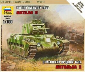 Zvezda 6171 - 1/100 Wargame Addon British Solid Matilda Mk.1 - New