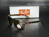 RAY BAN RB4147 710 57 Light Havana Crystal Brown Polarized 60mm Men's Sunglasses