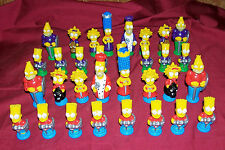 Old Simpsons Chess Set Game Vintage Cartoon Play Bart Homer The Simpson TV Show