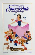SNOW WHITE MOVIE POSTER 1 Sided ORIGINAL RARE ROLLED R1987 GOLD FOIL 27x40