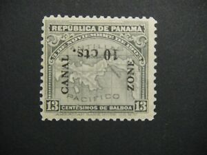 CANAL ZONE 36a inverted 10 cents mint NH tropical gum CAT 350