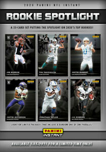 2020 NFL PANINI INSTANT ROOKIE SPOTLIGHT 35 CARD SET RC SP 1/1155
