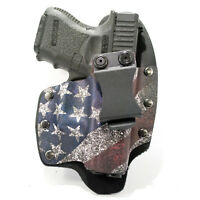 NT Hybrid IWB Holster for Colt, CZ, Diamondback, FN Handguns, Slanted Flag