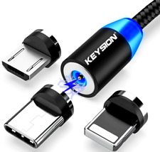 Magnetic USB Cable Fast Charging Type C Cable Magnet LED Charger