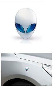 Styling Creative Metal Alien Pattern Sticker Car Motorcycle Sticker Blue