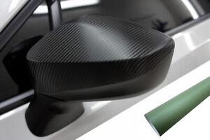 Para Muchos Vehículos Premium Espejo Carcasas Tapa Diseño Lámina Army Verde