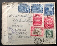 Aden 1943 RAF Cover To Wales with 7 x Stamps