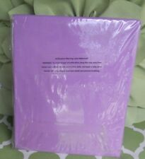The Company Store Twin Size Pale Lilac (Purple) Bed Bedroom Flat Sheet Sheets