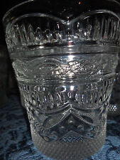 VINTAGE Clear/Thick/Heavy Cut Diamond Pattern FLOWER  Crystal Drinking Glasses 8