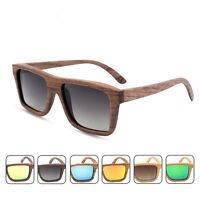 Vintage Bamboo Sunglasses Men's Women's Polarized Wooden Frame Glasses Wood Case