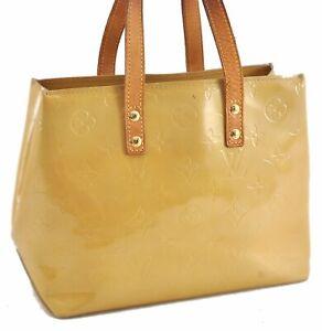 Authentic Louis Vuitton Vernis Reade PM Hand Bag Yellow LV C5140
