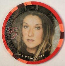 Caesars Palace $5 Las Vegas Nevada Celine Dion A New Day Tour Casino Chip